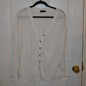 Urban Outfitters Oversized Thermal Button-Front M